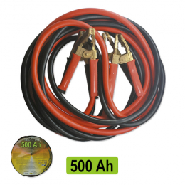 STARTER CABLE 12mmØ / 3M WITH CLAMPS SOLID BRASS