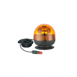 SHORT 12V ROTATING BEACON WITH CIGARETTE LIGHTER PLUG