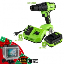 PROMO POWER: IMPACT DRILL + BATTERY + CHARGER + GIFT SPORT CAMERA
