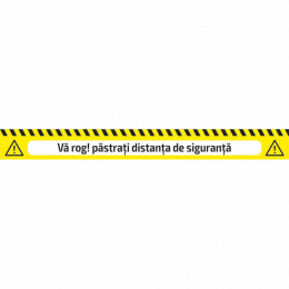 ADHESIVE WARNING TAPE - SAFETY DISTANCE
