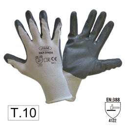 PALM NITRILE COATED GLOVES T. 10
