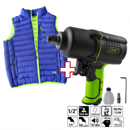 "PROMO IMPACT WRENCH 53726 + GREEN-BLUE VEST SIZE ""L"""