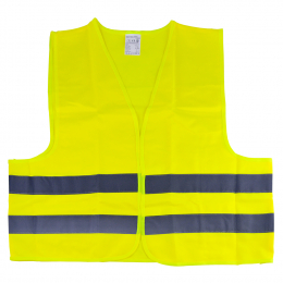 HIGH VISIBILITY REFLECTIVE VEST YELLOW