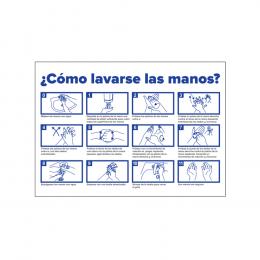 CARTEL INFORMATIVO - LAVADO DE MANOS