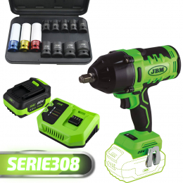 PROMO: IMPACT WRENCH+SET 12 IMPACT SOCKET+BATTERY+CHARGER