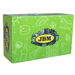 CAJA DE CARTÓN VERDE PROMO JBM 80x28x49cm
