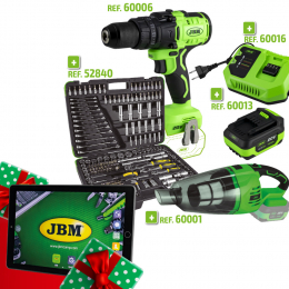 PROMO POWER: IMPACT DRILL + VACUUM CLEANER + SOCKET SET + BATTERY + CHARGER + GIFT TABLET
