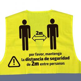 CHALECO DE ALTA VISIBILIDAD SERIGRAFIADO - 2 METROS