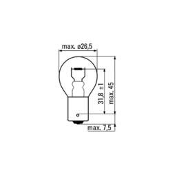 OBN-LAMPE 12V 21W BA15S