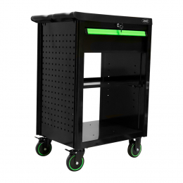 ROLLER CABINET WITH 1 DRAWER EMPTY - GREEN