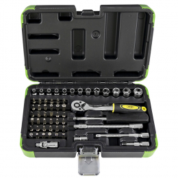 56 PIECE TOOL CASE (WITH HEXAGONAL SOCKETS) CHROME FINISH