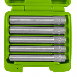 "5 PIECE 3/8"" HEXAGONAL  SOCKETS - EXTRA LONG"