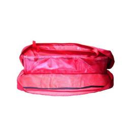 EMERGENCY KIT BAG RED WITH 6 COMPARTMENTS AND DIVISIONS