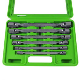 CASE WITH 6 HINGED 12-POINT SPANNERS