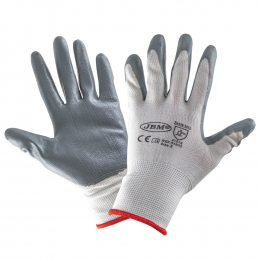 PALM NITRILE COATED GLOVES T.8