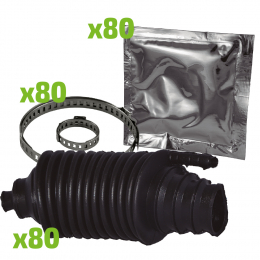 BOX OF 80 STEERING JOINT BOOT KITS - UNIVERSAL