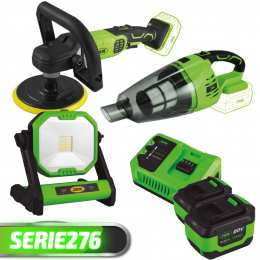 PROMO POWER: POLISHER + VACUUM  +  LIGHT + 2 BATTERIES + CHARGER