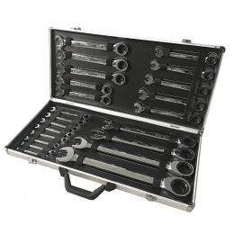 SET DE 22 CHEI COMBINATE CU RATCHET
