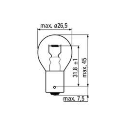 OBN-LAMPE (2P) 12V 21/5W BAY15D
